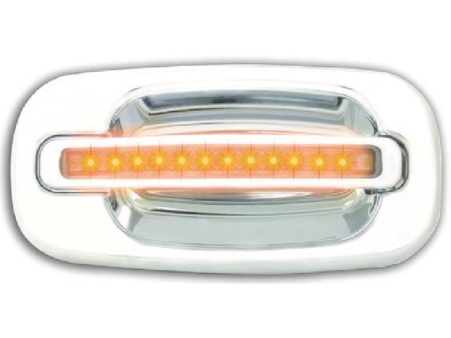 IPCW CLY99C18R Cadillac Escalade 1999 - 2006 LED Door Handle, Rear, Chrome Amber LED Clear Lens 2Ps. Per Set