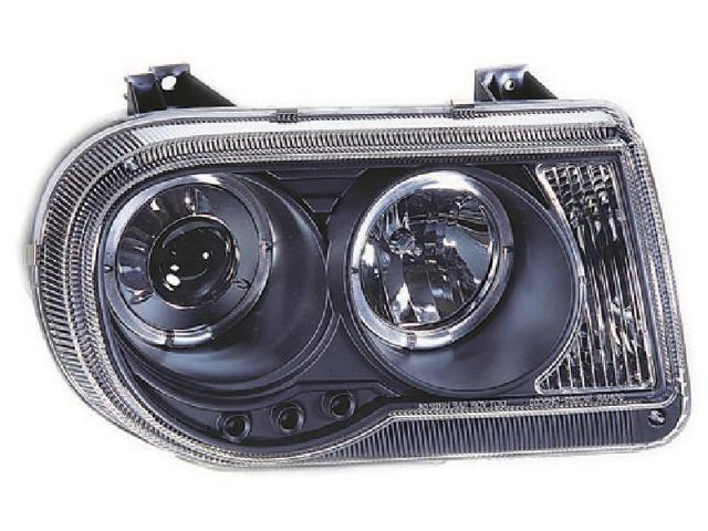 IPCW Projector Headlight CWS-412B2 04-06 Chrysler 300C Black Housing / Clear Projector