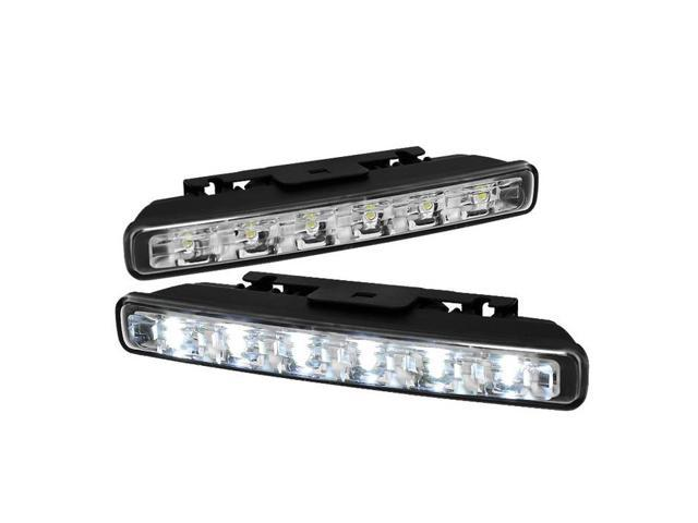 LED DRL Day Time Running Lights Auto On/Off 6pcs 1W - Chrome