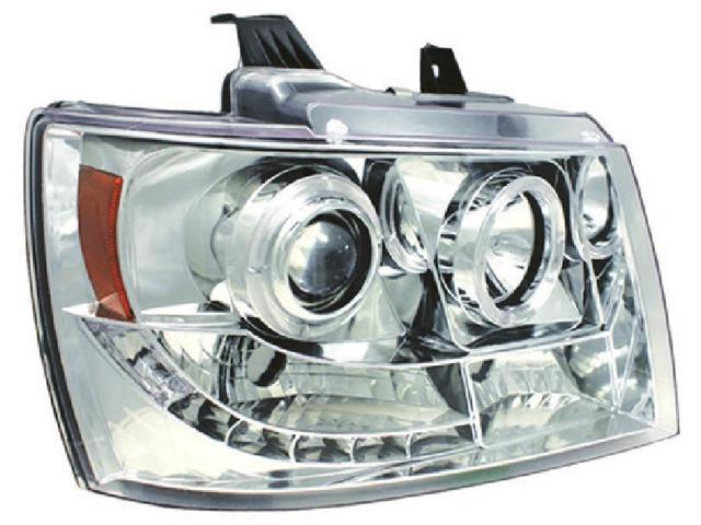 IPCW CWS-311C2 Chevrolet Avalanche 2007 - 2013 Head Lamps, Projector With Rings Chrome