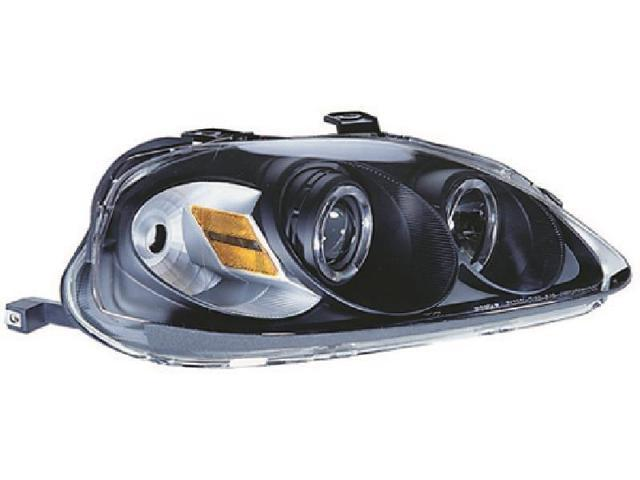 IPCW CWS-730B2 Honda Civic 1999 - 2000 Head Lamps, Projector With Rings Black