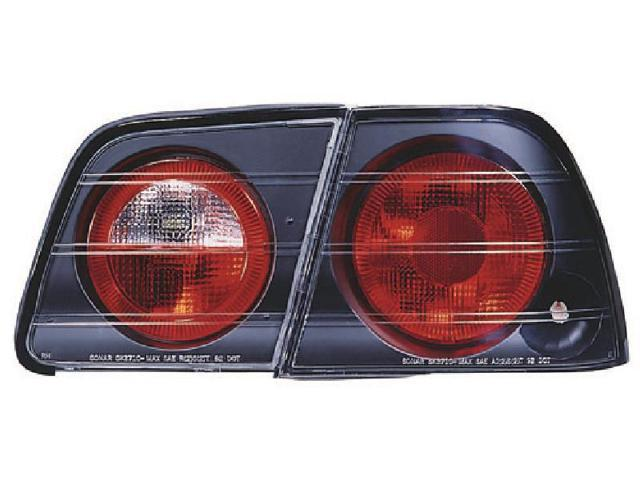 IPCW CWT-1107B2 Nissan Maxima 1995 - 1996 Tail Lamps, Crystal Eyes Bermuda Black