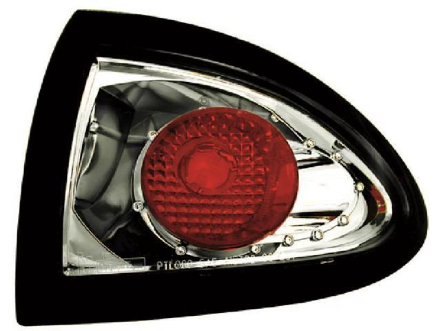 IPCW CWT-CE306CS Pontiac Sunfire 1995 - 2002 Tail Lamps, Crystal Eyes Platinum Smoke