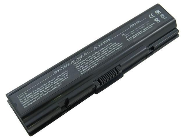 Notebook Battery Replacement for TOSHIBA DYNABOOK EQUIUM, SATELLITE A200 A300 A350 L500 M200 Pro A200 A300 L300 L450 L500 Series Battery - [9Cell 10.8V 6600mAh]