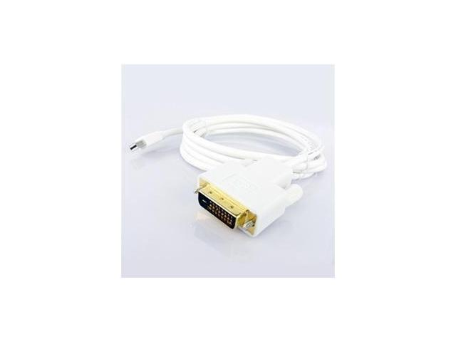 6ft Mini Displayport male to DVI male cable Adapter (Pure White)