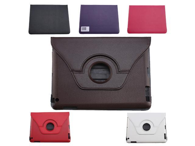 360 degrees rotation PU Leather Case for Apple New iPad