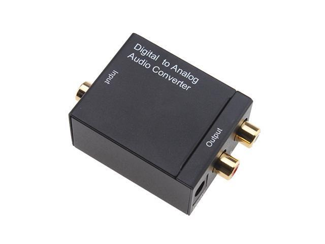 Digital Optical Coax to Analog RCA Audio Converter Home & Professional Audio Switching