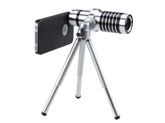 14X Zoom Magnifier Micro Telephoto Telescope Camera Lens Tripod for Apple iPhone 4G/ iPhone 4S