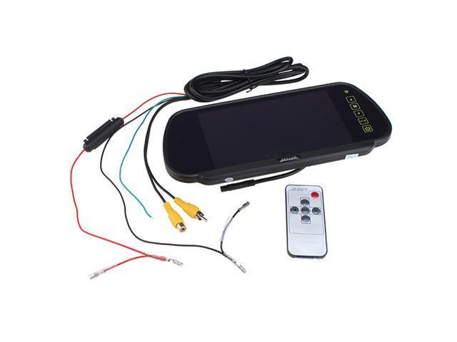 "7"" Color TFT LCD Car Rearview DVD VCR Backup Camera Display Mirror Monitor"