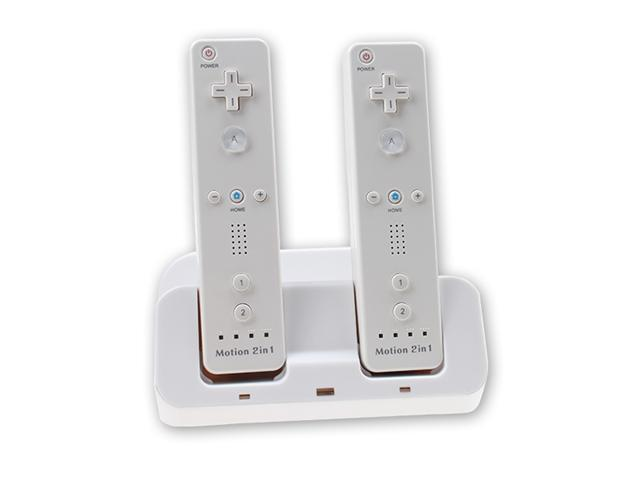 White 3X Charge Station for Wii U with 2 Recharge Battery