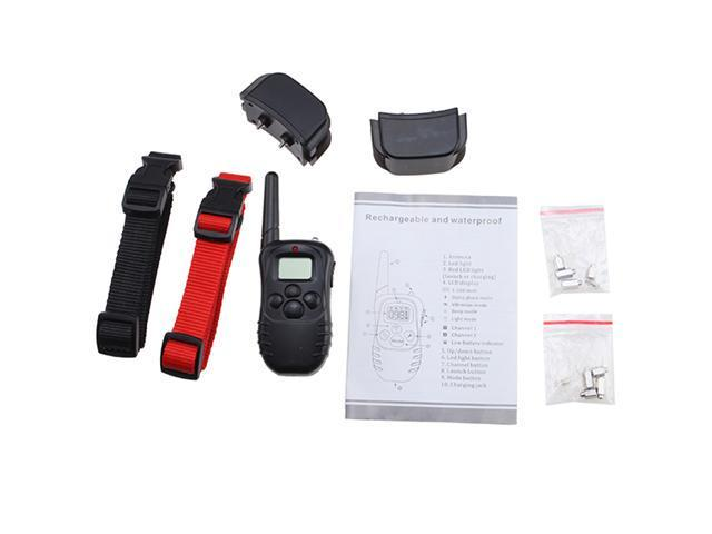 AGPtek® Remote Control Dog Training Transmitter & 2 Collars , 100 Level Shock and Vibration