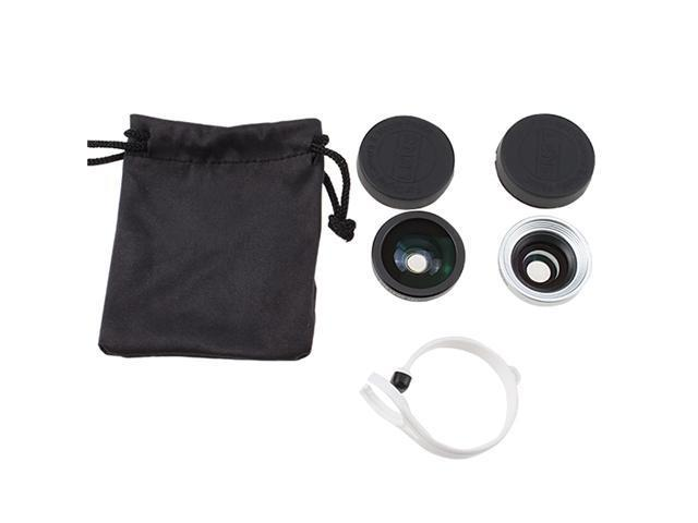Compatible Circular Clip 3 in 1 Fisheye Lens + Wide Angle Lens + Macro Lens for Mobile Phone / Tablet PC iPhone 4 4S 5G iPad ...