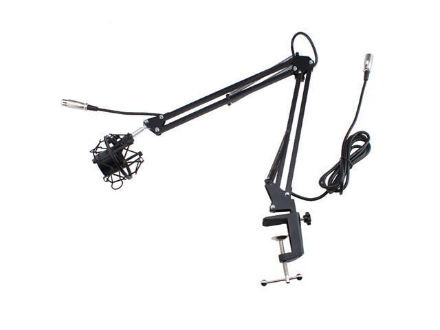 Broadcasting Studio Microphone Suspension Boom Scissor Arm stand with Shock Mount