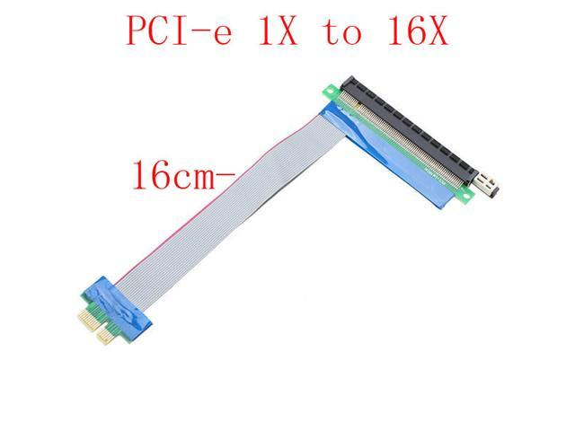 Pci express 1x to 16x slot flexible extension cable