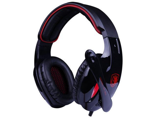 Sades SA-902 7.1 Surround Sound Effect USB Gaming Headset Headphone with Mic - Black