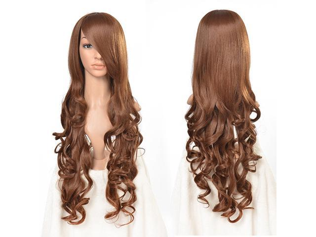 33 inch Heat Resistant Curly Wavy Long Cosplay Wigs