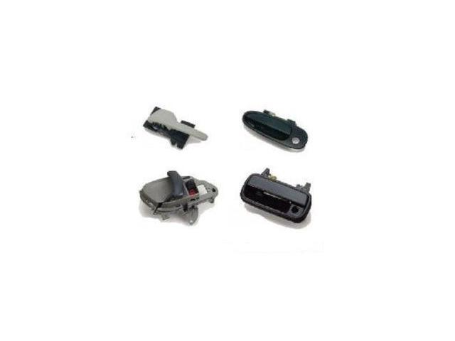 Hyundai Elantra 3/2/98-00 Outside Door Handle Front Rh (Small Key Hole/Half) (Black Smooth) Replacement 1 Pc 1998,1999,2000-o