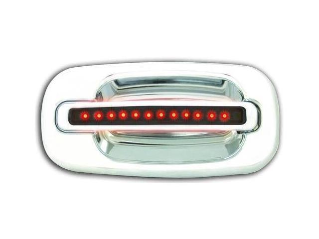 GMC 2000-2006 Suburban / Yukon / XL LED Door Handle, Rear, Chrome (2ps/set) Red LED/Smoke Lens No Key Hole IPCW 1 pair