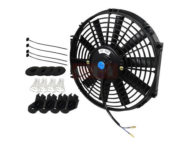 Combo 12 Inches Radiator Fan Plus Mount Kit