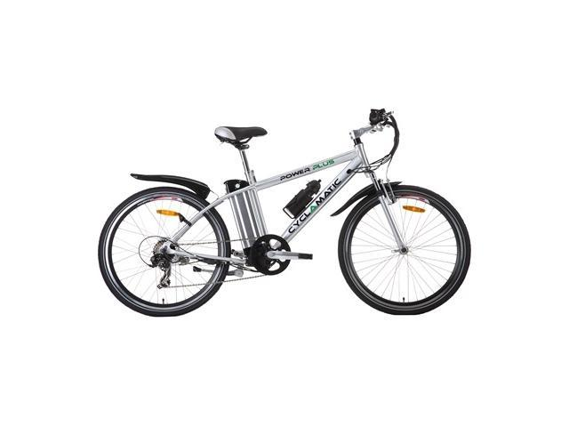 Cyclamatic Power Plus Mountain Electric Bike with Lithium-Ion Battery - Silver