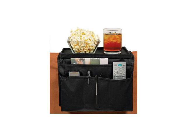 The Original National TV™ - 5 Large Pocket and 1 Big Tray Sofa Chair Couch Arm Rest Organizer
