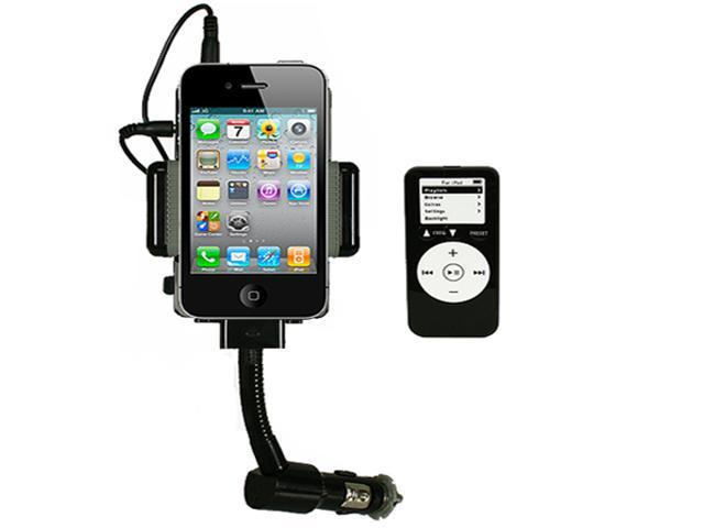 iMounTEK FM Transmitter + Car Charger + Remote for MP3 iPhone iPod 4 4S 3G 3GS