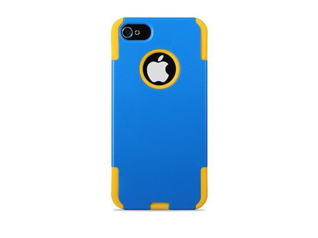 GPCT Apple iPhone 5 Hard Hybrid Case Cover Rubberized Silicone - Blue