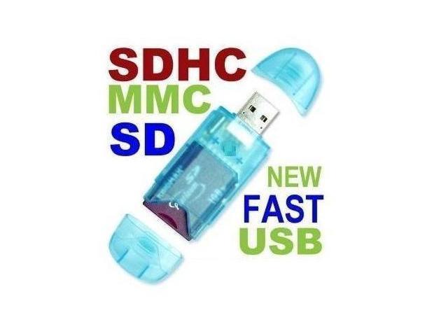 GPCT USB 2.0 SD SDHC MMC MEMORY CARD READER 2GB 4GB 8GB 16GB