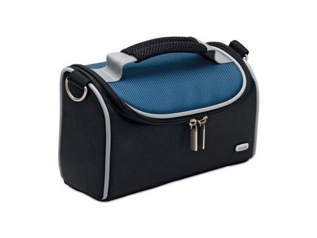 "Kodak Medium V2 Camera Bag - 4.5"" x 8.7"" x 3.4"" - Nylon, Vinyl (Cobalt Blue)"