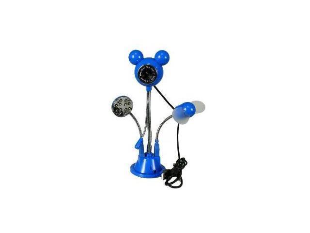 NEW 5MP Flexible USB PC LED Webcam Microphone W/ Fan
