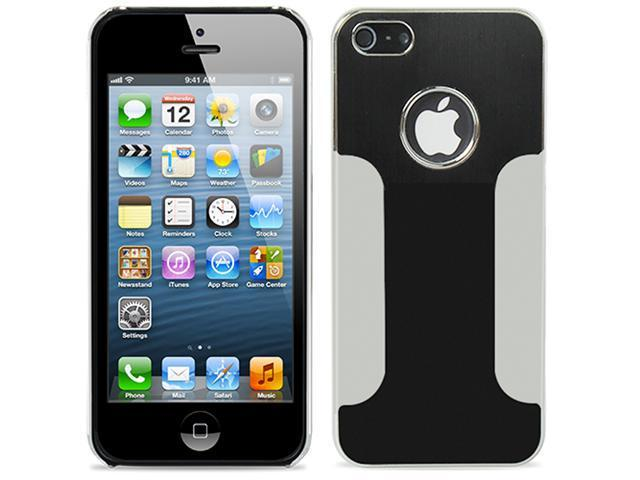Black ~ Deluxe Metal Aluminum Chrome Hard Case for Apple iPhone 5 5S 5C + Screen Protector + Stylus