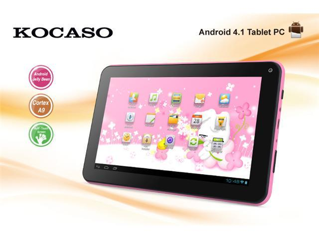 """BRAND NEW! KOCASO M736 7"""" High Resolution Screen 800*480 Android 4.1 OS 1.2Ghz Built-in 4GB Memory Tablet PC Pink"""
