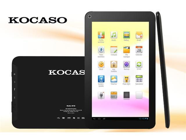 """Kocaso M736 7"""" Android 4.1 Capacitive Touch Tablet - 800 x 480 Screen, 1.2Ghz, 4GB, Wi-Fi (Black)"""