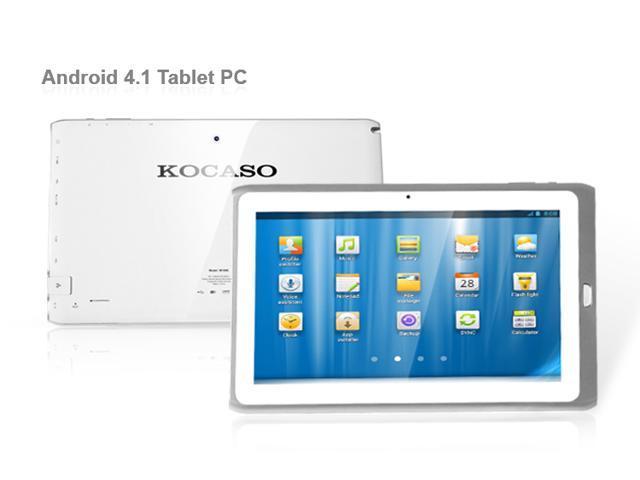KOCASO M1068  Rockchip 3066 Cortex-A9 Dual-Core,  Dual Cameras,  1GB DDR3 , 8GB Memory,  Bluetooth 3.0  Battery 5000mAh , Android 4.1  10.1