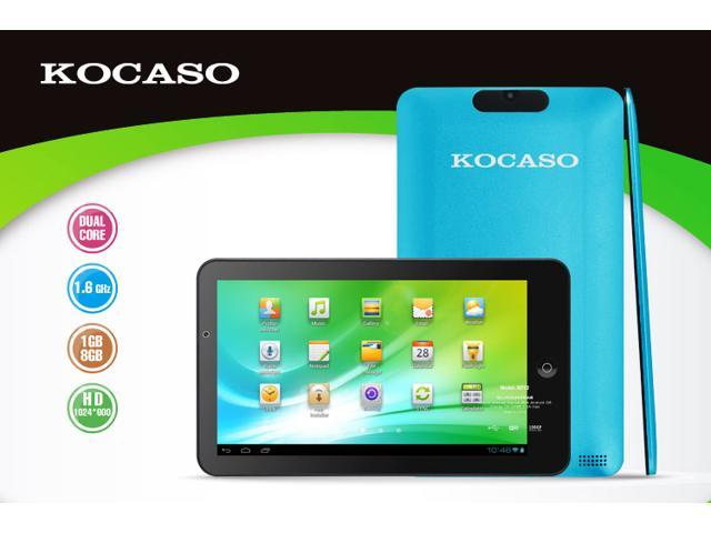 Kocaso M772 Dual Core 1.6Ghz Dual Camera 1GB DDR3  8GB Memory Android 4.1 Capacitive Tablet PC (Blue), Support external 3G module dongle !