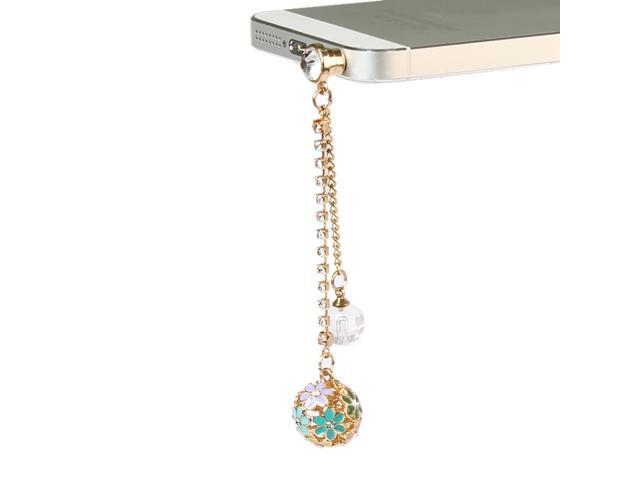 Colorful Crystal Diamond Ball Dust Cap Pendant for Cell Phone 3.5mm Jack