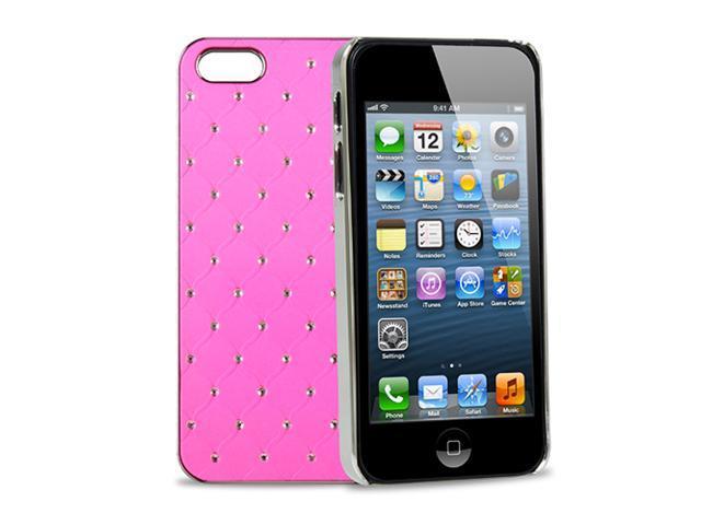 GPCT Apple iPhone 5 Aluminum Bling Crystal Diamond Hard Back Luxury Case Cover (Pink)