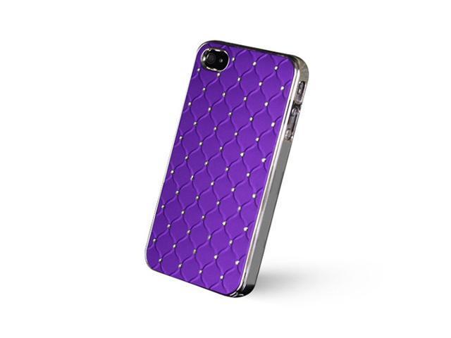GPCT Apple iPhone 5 Aluminum Bling Crystal Diamond Hard Back Luxury Case Cover (Purple)