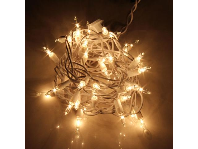 35 Clear Christmas/Wedding Tulle 9.5' String Lights Indoor/Outdoor w/ Spare Fuzes and Bulbs