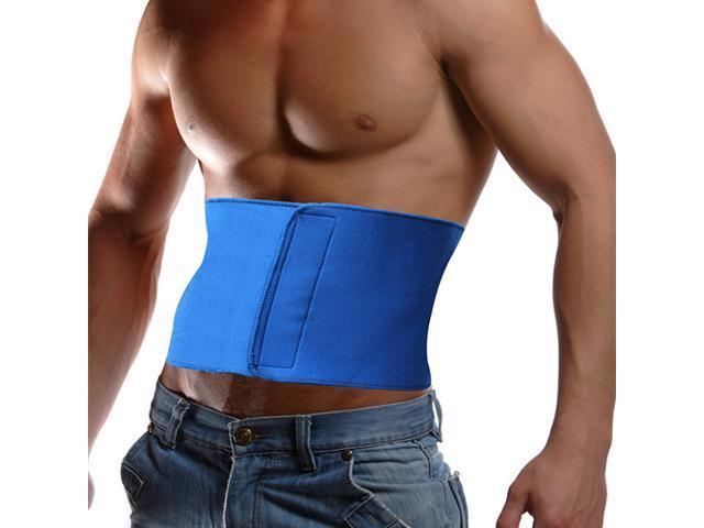 Waist Trimmer Wrap Fat Cellulite Burner Body Leg Slimming Shaper Exercise Belt (Blue)