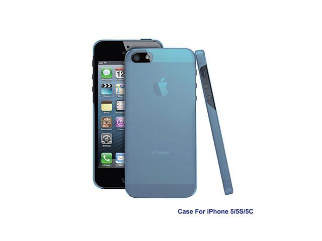GPCT Washable Hard Snap On TPU Cover Case Holder for Apple iPhone5 - Blue