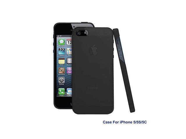 GPCT Washable Hard Snap On TPU Cover Case Holder for Apple iPhone5 - Black