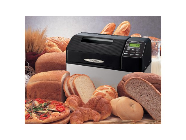 Zojirushi 2-lb. Home Bakery Supreme Breadmaker, Black/Stainless