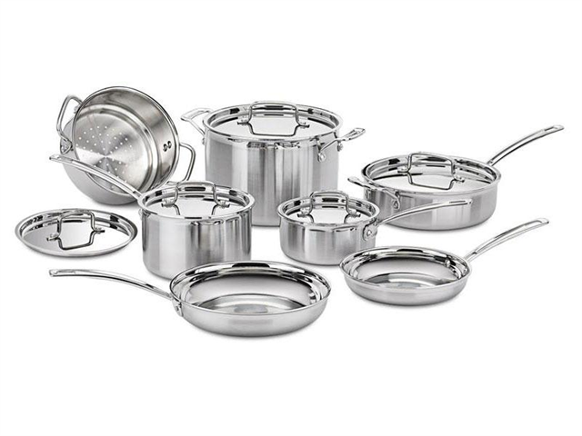 Cuisinart 12-pc. Stainless Steel MultiClad Pro Cookware Set