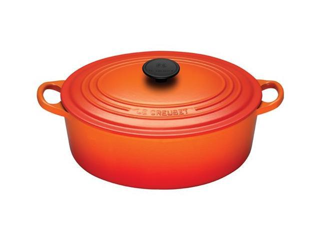 Le Creuset 5-qt. Oval Cast-Iron Signature Enameled French Oven, Flame