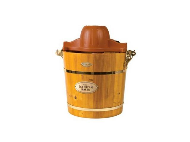 Nostalgia Electrics 4-Quart Wooden Bucket Electric Ice Cream Maker (Light Oak)