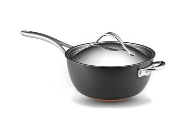 Anolon 5.5-qt. Nonstick Nouvelle Copper Covered Saucier Pan