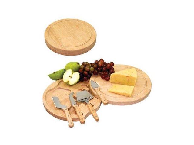 Picnic Time 5-pc. Cheese Serving Set, White teak