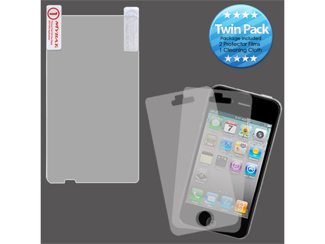 2x LCD Screen Cover Protector Film with Cloth Wipe for HTC HD7, HD7S
