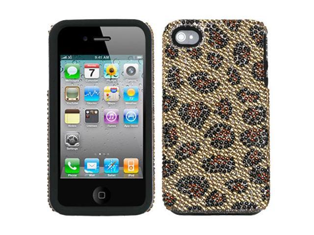 Leopard Skin/ Camel Diamond Cover Protector Case for iPhone 4 4S